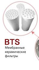Мембранные керамические фильтры BTS